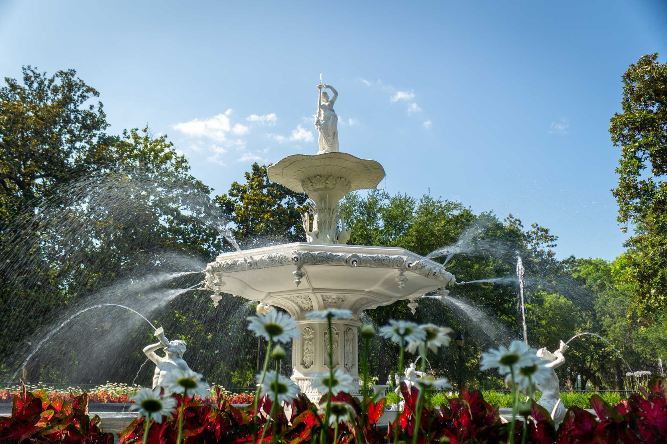 Forsyth Fountain in Forsyth Park - Spring