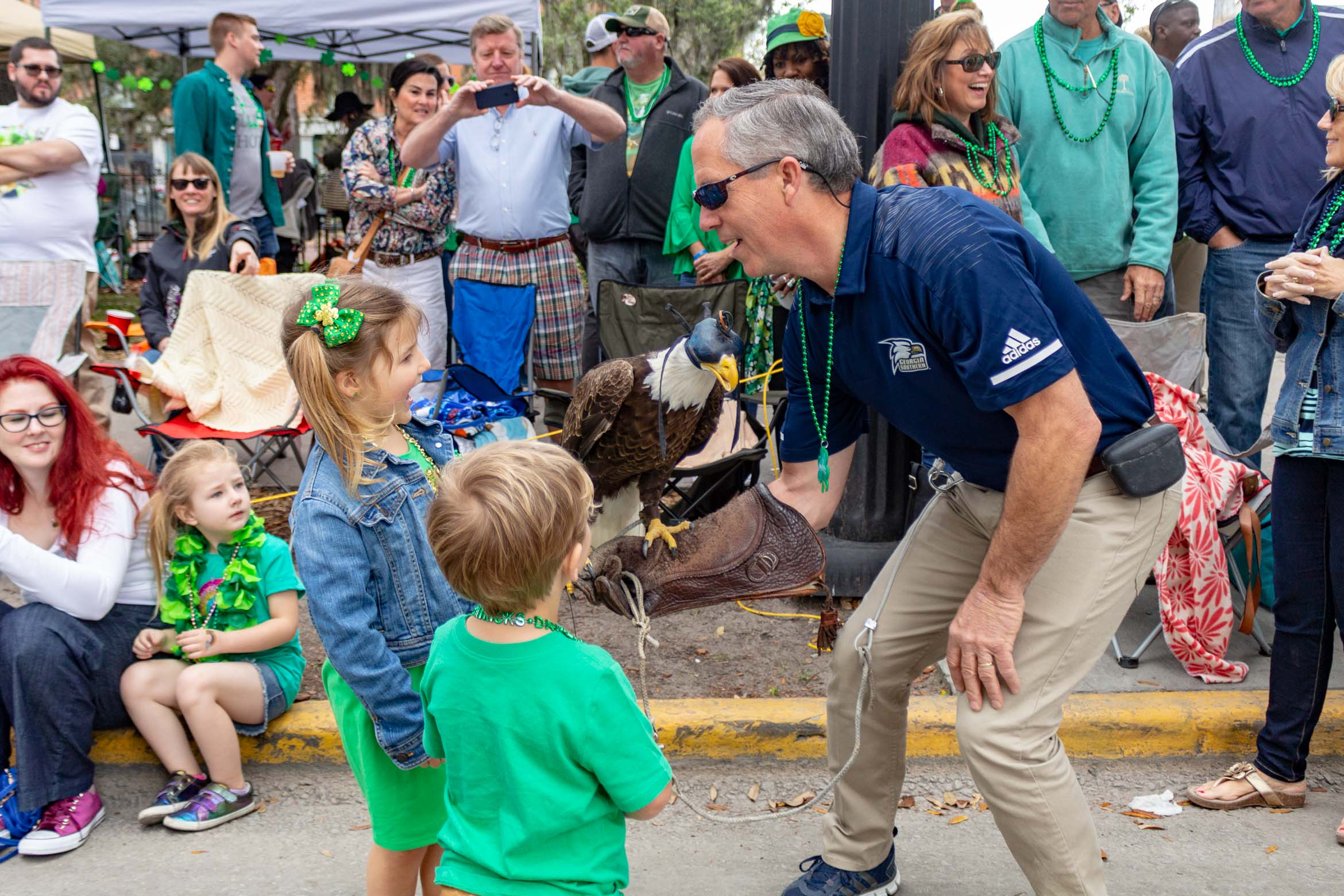 St Patricks Day 2019 with Freedom the Eagle
